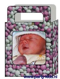 Geboorte tasje maken met eigen foto