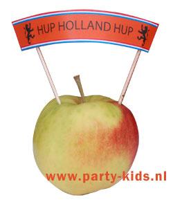 Hup Holland Hup vlag op prikkertjes