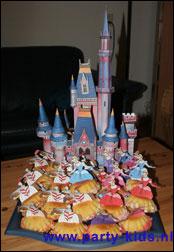 prinses en ridders met kasteel