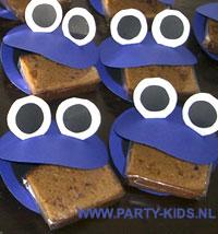 Afbeelding van koekiemonster met ontbijtkoek