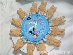 Geboortetraktatie Nijntje koekjes gepresenteerd op bord