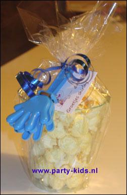 afscheidskadootje met popcorn