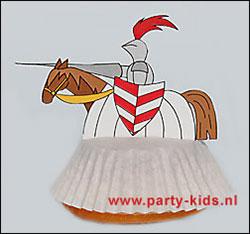 Ridder op paard cakejes