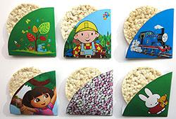 Voorbeelden rijstwafel traktatie