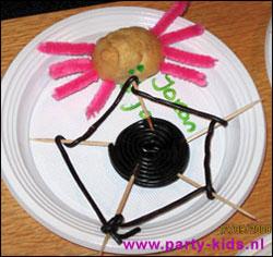 spin met web van drop