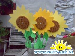 zonnebloemen van stroopwafel