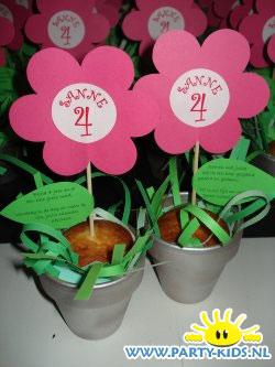 Bloemetjes van cupcakes