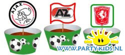 Voetbal cupcakes met jouw favoriete club