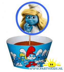 Smurfin cupcake traktatie