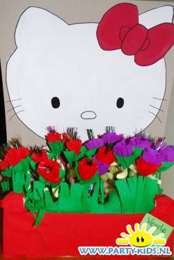 Hello Kitty tuintje met rozen
