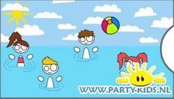 Geld envelop zwemfeestje FoO