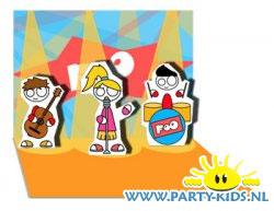 Pop-up kaart FoO concert