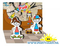 Pop-up kaart FoO skaters