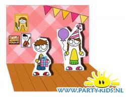 Pop-up kaart FoO verjaardag meisje