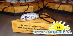 Kaas met muizen taartpunten