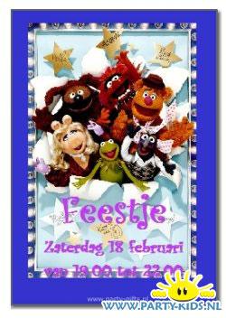 Muppets uitnodigingskaart