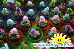 Lente cupcake met kuikentje