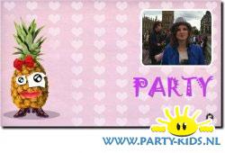 Coole uitnodiging met ananas