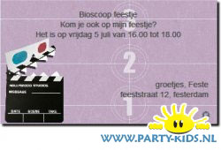 bioscoop uitnodiging