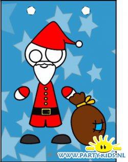 Kerstman traktatie tasje