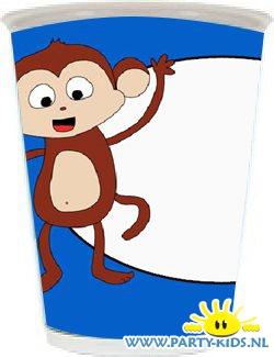 beker met aap en eigen naam