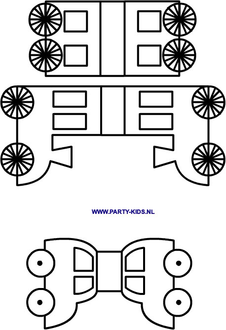 Autootjes en treintje met wagonnetjes