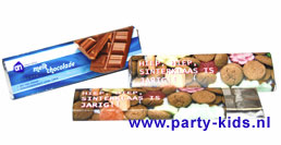 Sinterklaas chocoladereep met eigen tekst