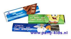Spongebob chocoladereep met eigen tekst
