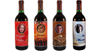 Wijn fles etiket