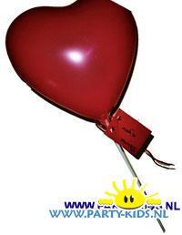 Hart ballon voor valentijn