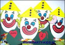 Clowntje van karton