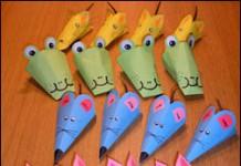 Dieren van papier (variant op muisjes van papier)
