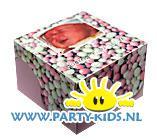 geboorte broertje of zusje doosjes met foto
