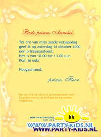 Prinsessen uitnodiging in kokers met confetti
