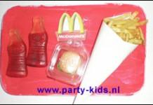 Mini McDonalds van colaflesjes en frites chips