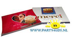 merci chocolade met eigen foto wikkel