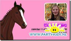 Paarden uitnodiging met eigen foto