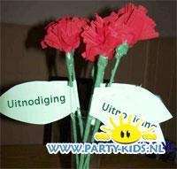 Rozen bloemen uitnodiging