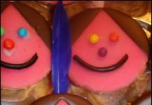 Indiaantjes van roze koeken 1