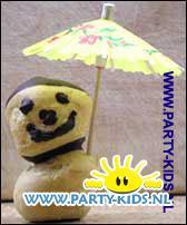 poppetjes van soesjes (met parasol)