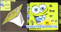 Spongebob (met koffiefilterzakjes)