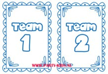 Poster Team 1 en Team 2