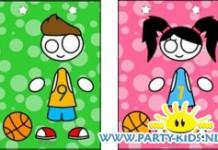 Basketbal jongen of meisje cadeau tasje