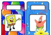 Spongebob en Patrick traktatie tasje