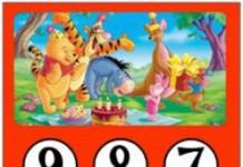 Winnie de Pooh aftelkalender