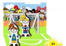 Pop-up kaart FoO voetbal meisjes