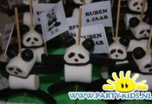 Panda van marshmallows