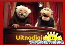 Muppets Waldorf and Statler uitnodiging