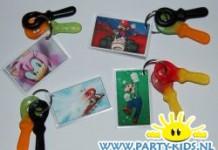 Super Mario en Peach sleutelhangers
