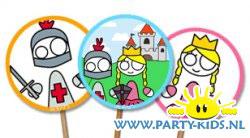 prikkertjes met prinsessen en ridders